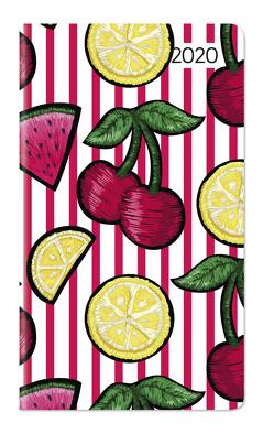 Ladytimer Slim Fruits 2020 – Taschenplaner – Taschenkalender (9 x 16) – Weekly – 128 Seiten – Notizbuch – Terminplaner von ALPHA EDITION