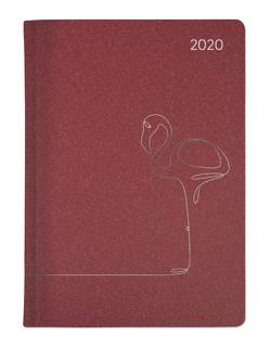 Ladytimer Style Flamingo 2020 – Taschenplaner – Taschenkalender A6 – Weekly – 192 Seiten – Metallicprägung Flamingo – Terminplaner von ALPHA EDITION