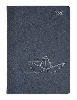 Ladytimer Style Origami 2020 – Taschenplaner – Taschenkalender A6 – Weekly – 192 Seiten – Metallicprägung Origami – Terminplaner von ALPHA EDITION