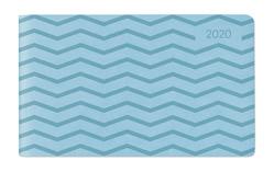 Ladytimer TO GO Deluxe Pastel Blue 2020 – Taschenkalender quer (15 x 9) – Tucson Einband – Motivprägung Muster – Weekly – 128 Seiten von ALPHA EDITION