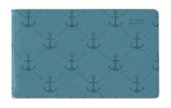 Ladytimer TO GO Deluxe Turquoise 2020 – Taschenplaner – Taschenkalender quer (15 x 9)- Tucson Einband – Motivprägung Anker – Weekly – 128 Seiten von ALPHA EDITION