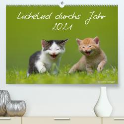 Lächelnd durchs Jahr 2021 (Premium, hochwertiger DIN A2 Wandkalender 2021, Kunstdruck in Hochglanz) von Danegger,  Susanne