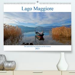 Lago Maggiore (Premium, hochwertiger DIN A2 Wandkalender 2021, Kunstdruck in Hochglanz) von Kruse,  Joana