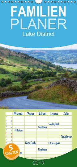 Lake District England – Familienplaner hoch (Wandkalender 2019 , 21 cm x 45 cm, hoch) von Kruse,  Joana
