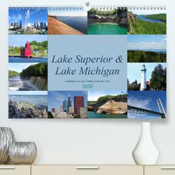 Lake Superior & Lake Michigan (Premium, hochwertiger DIN A2 Wandkalender 2020, Kunstdruck in Hochglanz) von Rothenhöfer,  Martin