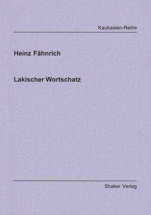 Lakischer Wortschatz von Fähnrich,  Heinz