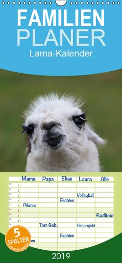 Lama-Kalender – Familienplaner hoch (Wandkalender 2019 , 21 cm x 45 cm, hoch) von Witkowski,  Bernd