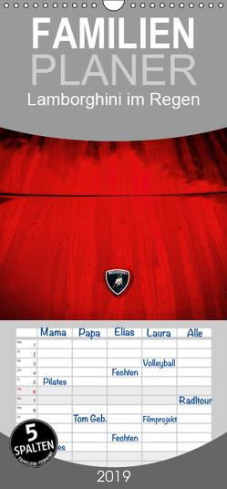Lamborghini im Regen – Familienplaner hoch (Wandkalender 2019 , 21 cm x 45 cm, hoch) von Sagnak,  Petra