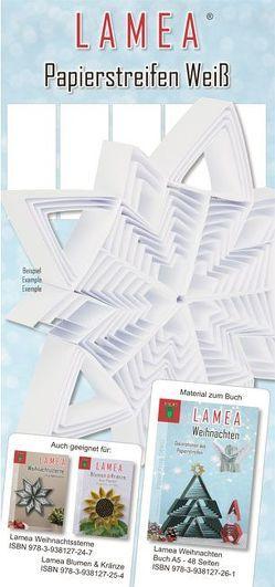 LAMEA Papierstreifen Weiß für Weihnachten