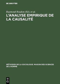 L'analyse empirique de la causalité von Boudon,  Raymond, Lazarsfeld,  Paul