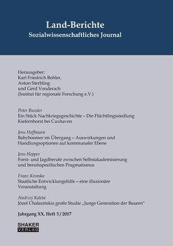 Land-Berichte. Sozialwissenschaftliches Journal von Bohler,  Karl Friedrich, Sterbling,  Anton, Vonderach,  Gerd