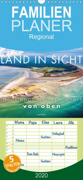 Land in Sicht – Mecklenburg-Vorpommern von oben – Familienplaner hoch (Wandkalender 2020 , 21 cm x 45 cm, hoch) von Kilmer,  Sascha