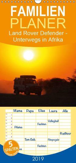 Land Rover Defender – Unterwegs in Afrika – Familienplaner hoch (Wandkalender 2019 , 21 cm x 45 cm, hoch) von Sander,  Stefan