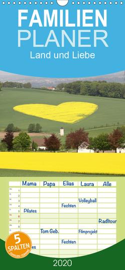 Land und Liebe – Familienplaner hoch (Wandkalender 2020 , 21 cm x 45 cm, hoch) von Heepmann,  Karolin