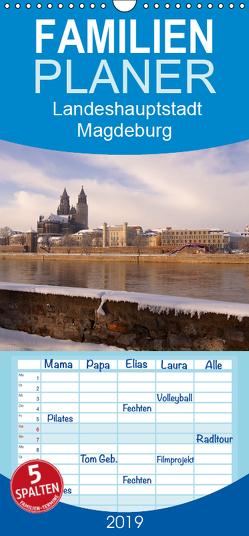 Landeshauptstadt Magdeburg – Familienplaner hoch (Wandkalender 2019 , 21 cm x 45 cm, hoch) von Bussenius,  Beate