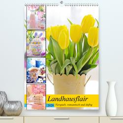 Landhausflair. Verspielt, romantisch und duftig (Premium, hochwertiger DIN A2 Wandkalender 2020, Kunstdruck in Hochglanz) von Hurley,  Rose