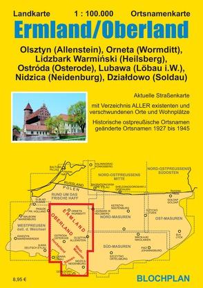 Landkarte Ermland/Oberland von Bloch,  Dirk