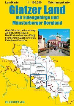Landkarte Glatzer Land von Bloch,  Dirk