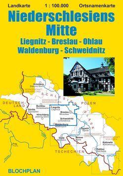 Landkarte Niederschlesiens Mitte von Bloch,  Dirk