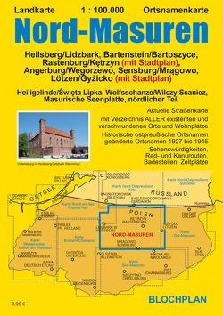 Landkarte Nord-Masuren von Bloch,  Dirk