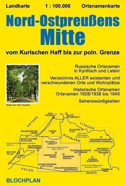 Landkarte Nord-Ostpreußens Mitte von Bloch,  Dirk