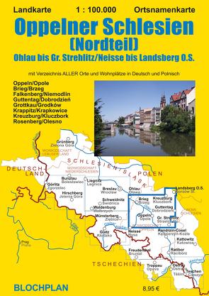 Landkarte Oppelner Schlesien (Nordteil) von Bloch,  Dirk