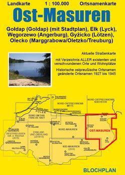 Landkarte Ost-Masuren von Bloch,  Dirk