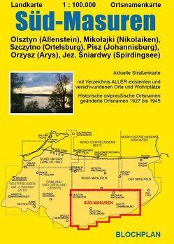 Landkarte Süd-Masuren von Bloch,  Dirk