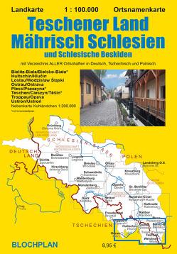 Landkarte Teschener Land/Mährisch Schlesien von Bloch,  Dirk