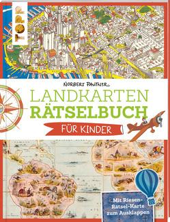 Landkartenrätselbuch für Kinder von Pautner,  Norbert