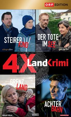 Landkrimi-Set 4: Steirerkind/Der Tote im See/Grenzland/Achterbahnn von Diverse