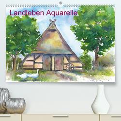Landleben Aquarelle (Premium, hochwertiger DIN A2 Wandkalender 2021, Kunstdruck in Hochglanz) von Krause,  Jitka