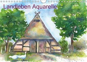 Landleben Aquarelle (Wandkalender 2018 DIN A4 quer) von Krause,  Jitka