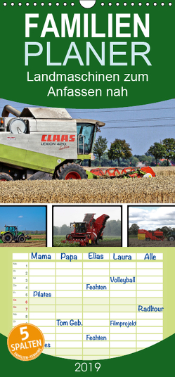 Landmaschinen zum Anfassen nah – Familienplaner hoch (Wandkalender 2019 , 21 cm x 45 cm, hoch) von SchnelleWelten