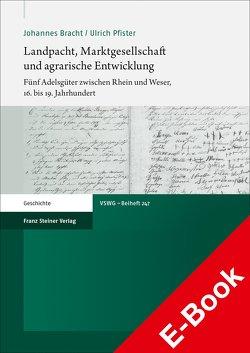 Landpacht, Marktgesellschaft und agrarische Entwicklung von Bracht,  Johannes, Pfister,  Ulrich