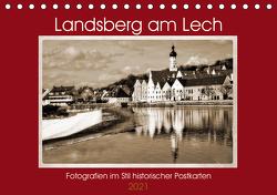 Landsberg am Lech Fotografien im Stil historischer Postkarten (Tischkalender 2021 DIN A5 quer) von Marten,  Martina