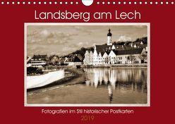 Landsberg am Lech Fotografien im Stil historischer Postkarten (Wandkalender 2019 DIN A4 quer) von Marten,  Martina