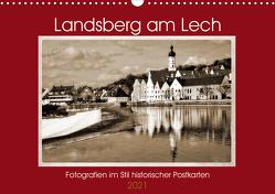 Landsberg am Lech Fotografien im Stil historischer Postkarten (Wandkalender 2021 DIN A3 quer) von Marten,  Martina