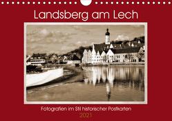 Landsberg am Lech Fotografien im Stil historischer Postkarten (Wandkalender 2021 DIN A4 quer) von Marten,  Martina