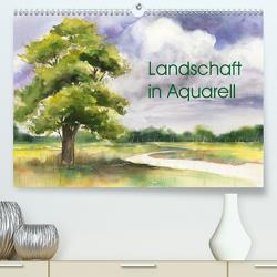 Landschaft in Aquarell (Premium, hochwertiger DIN A2 Wandkalender 2021, Kunstdruck in Hochglanz) von Krause,  Jitka