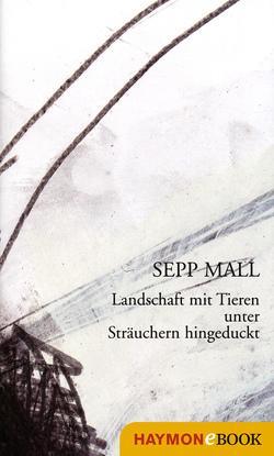 Landschaft mit Tieren unter Sträuchern hingeduckt von Mall,  Sepp