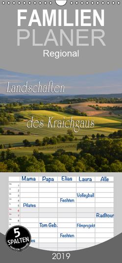 Landschaften des Kraichgaus – Familienplaner hoch (Wandkalender 2019 , 21 cm x 45 cm, hoch) von Reiter,  Monika