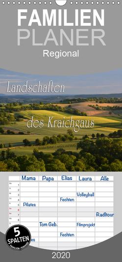 Landschaften des Kraichgaus – Familienplaner hoch (Wandkalender 2020 , 21 cm x 45 cm, hoch) von Reiter,  Monika