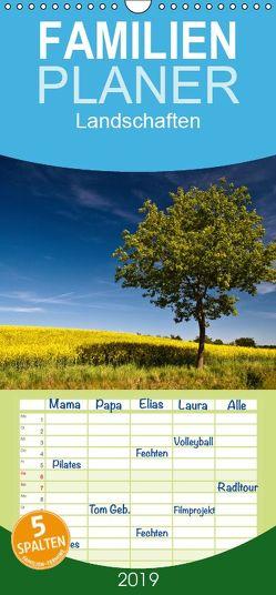 Landschaften – Familienplaner hoch (Wandkalender 2019 , 21 cm x 45 cm, hoch) von Ködder,  Rico