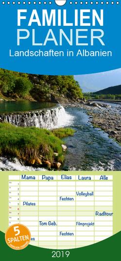 Landschaften in Albanien – Familienplaner hoch (Wandkalender 2019 , 21 cm x 45 cm, hoch) von Scholz,  Frauke