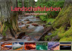 Landschaftsfarben – Geburtstagskalender (Wandkalender 2019 DIN A3 quer)