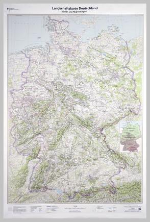 Landschaftskarte Deutschland 1 : 750 000 von BKG - Bundesamt für Kartographie und Geodäsie
