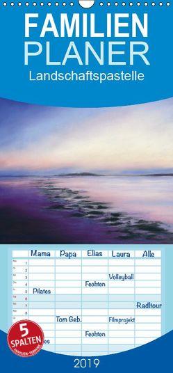 Landschaftspastelle – Familienplaner hoch (Wandkalender 2019 , 21 cm x 45 cm, hoch) von Krause,  Jitka