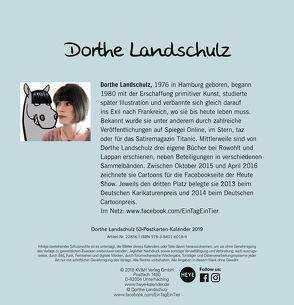 Landschulz Tiere,Thesen,Temperamente Aufstell-Postkartenkalender – Kalender 2019 von Heye, Landschulz,  Dorthe
