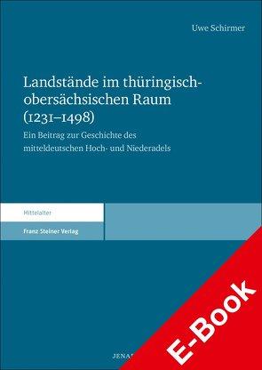 Landstände im thüringisch-obersächsischen Raum (1231–1498) von Schirmer,  Uwe